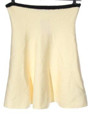 Zara Knit Tellerrock creme-schwarz Casual-Look