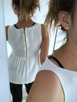 Zara Knit Casacca bianco