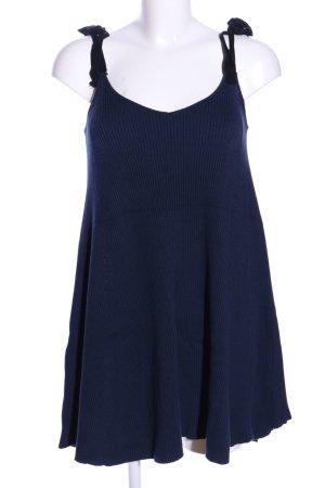 Zara Knit Trägerkleid blau Casual-Look