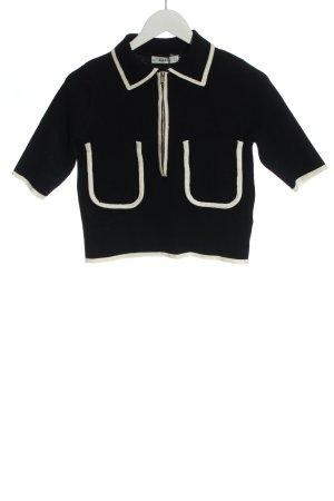 Zara Knit Pull marin noir style décontracté