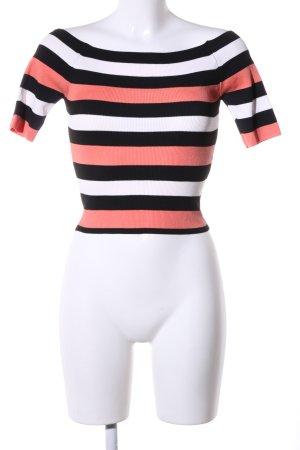 Zara Knit Boothalsshirt gestreept patroon casual uitstraling