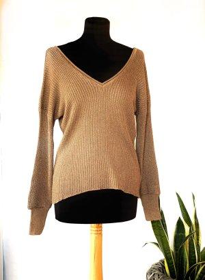 Zara Knit V-Ausschnitt Pullover
