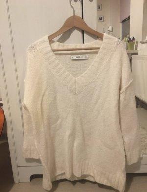 Zara Knit - weißer langer Strickpulli