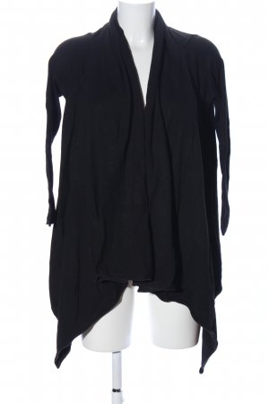 Zara Knit Wraparound Jacket black casual look