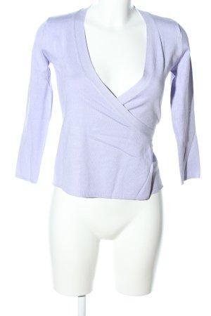 Zara Knit Wickelshirt lila Casual-Look