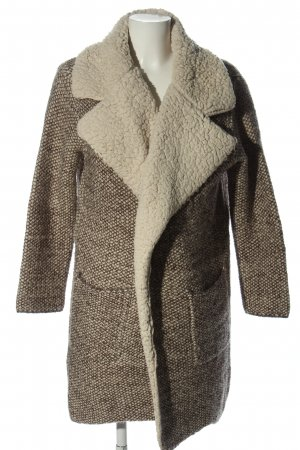 Zara Knit Cappotto invernale grigio chiaro-bianco sporco stampa integrale
