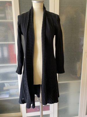 Zara Knit Knitted Coat black