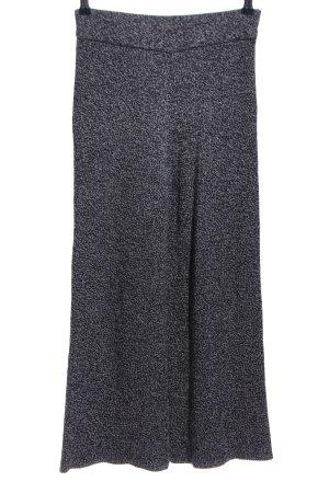 Zara Knit Pantalone di lana grigio chiaro-nero modello web stile casual