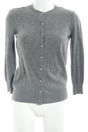 Zara Knit Wolljacke grau-hellgrau meliert Elegant