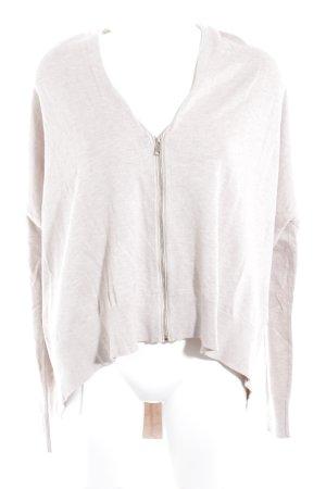 Zara Knit Wolljacke hellgrau Casual-Look