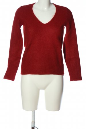 Zara Knit Wollpullover rot Casual-Look