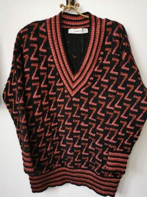 Zara knit Z Logo Pullover S