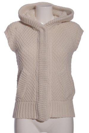 Zara Knit Warkoczowy sweter w kolorze białej wełny Warkoczowy wzór