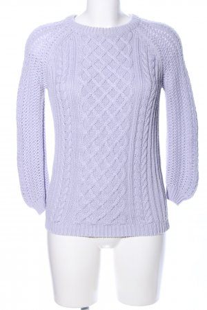 Zara Knit Cable Sweater lilac cable stitch casual look