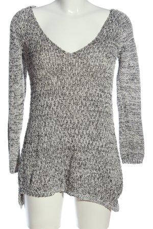 Zara Knit Jersey trenzado gris claro moteado look casual