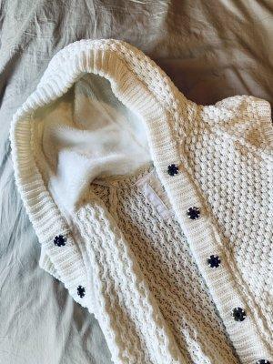 Zara Cardigan a maniche corte bianco-bianco sporco