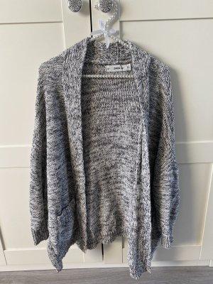 Zara Szydełkowany sweter czarny-biały Bawełna