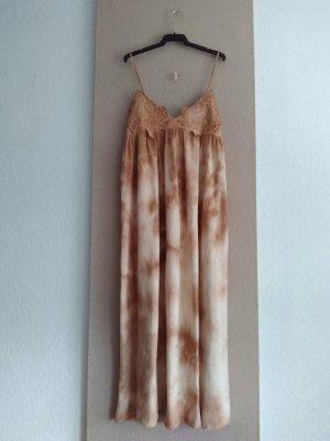 Zara kombiniertes feingestricktes Midi-Trägerkleid in Tie-Dye aus 100% Baumwolle, Grösse S oversize, neu