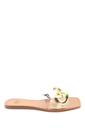 Zara Sandalo comodo oro effetto bagnato