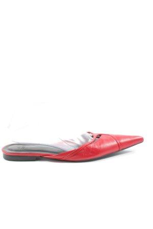 Zara Sabot rouge style décontracté