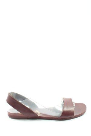 Zara Komfort-Sandalen braun Casual-Look