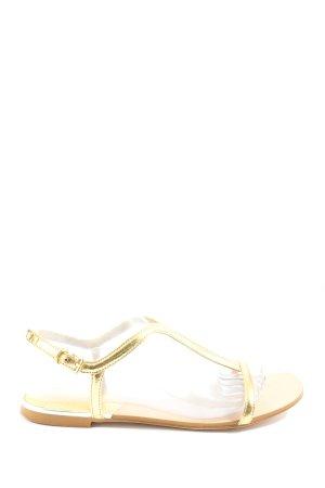 Zara Komfort-Sandalen goldfarben Elegant