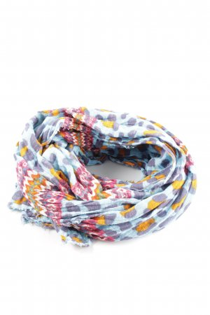 Zara Crinkle Scarf abstract pattern casual look