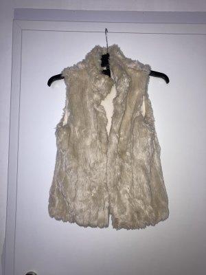 Zara Giacca di pelliccia beige