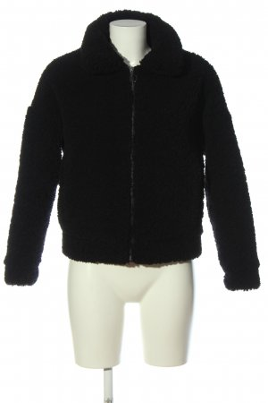 Zara Giacca in eco pelliccia nero stile casual