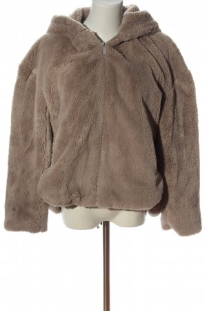 Zara Fake Fur Jacket brown casual look