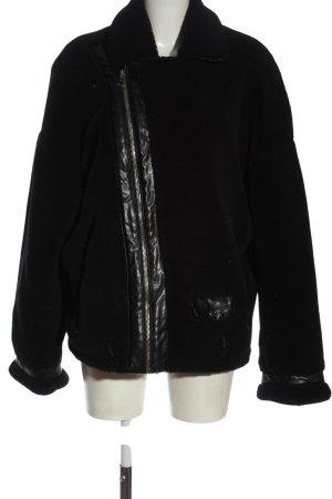 Zara Kurtka zimowa czarny W stylu casual