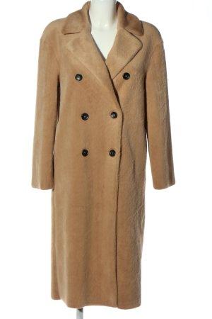 Zara Płaszcz ze sztucznym futrem brązowy W stylu casual