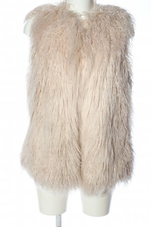 Zara Chaleco de piel sintética crema look casual