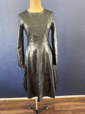 Zara Skórzana sukienka czarny
