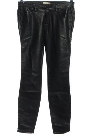 Zara Kunstlederhose schwarz extravaganter Stil