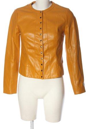 Zara Kurtka z imitacji skóry jasny pomarańczowy W stylu casual
