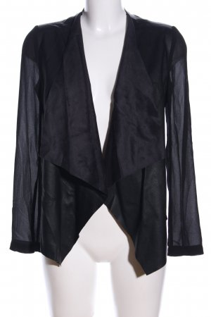 Zara Kunstlederjacke schwarz Business-Look