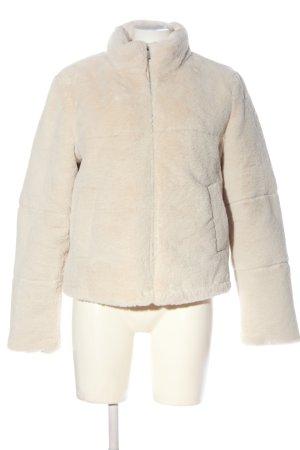 Zara Kurtka z imitacji skóry w kolorze białej wełny W stylu casual