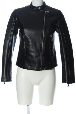 Zara Giacca in ecopelle nero stile casual