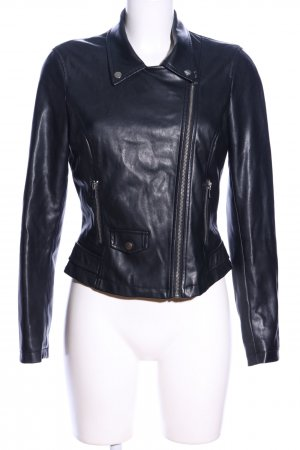 Zara Veste en cuir synthétique noir style décontracté
