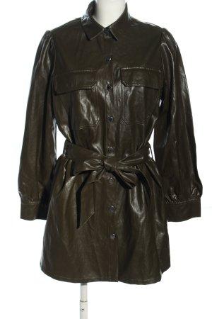 Zara Kunstlederkleid khaki Casual-Look