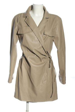 Zara Kunstlederkleid wollweiß Casual-Look