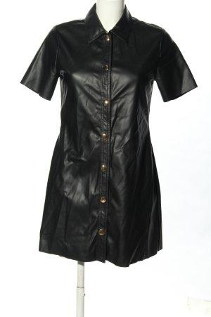 Zara Kunstlederkleid schwarz Casual-Look