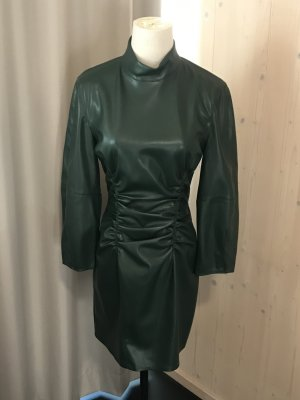 Zara Leather Dress dark green polyester
