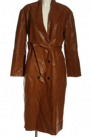 Zara Manteau en simili brun style mouillé