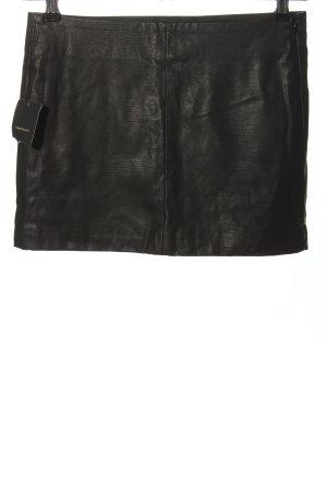 Zara Spódnica z imitacji skóry czarny Zwierzęcy wzór Elegancki