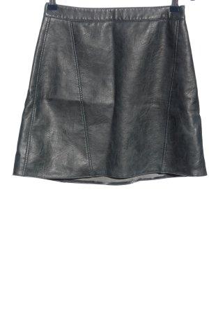 Zara Kunstlederrock schwarz Casual-Look