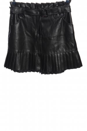 Zara Faux Leather Skirt black elegant