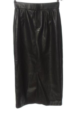Zara Jupe en cuir synthétique noir style décontracté