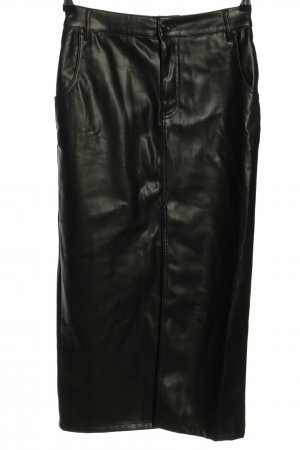 Zara Faux Leather Skirt black casual look